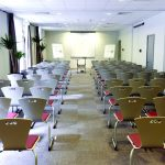 Campanile Hotel Swindon large room with seating and flip chart at front