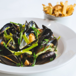 Plate of mussels at Browns restaurant