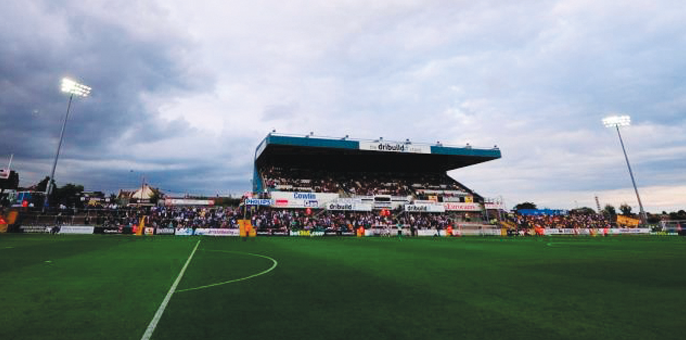 Memorial Stadium home of Bristol Rovers - view of stands and pitch